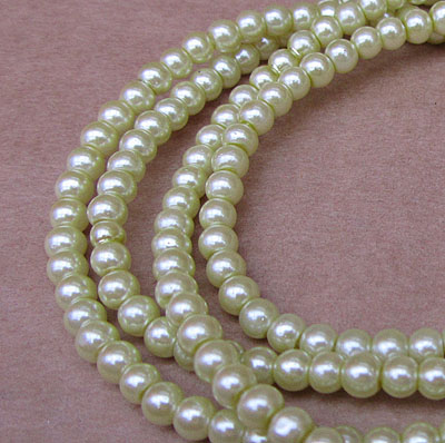 Glass Pearls - 4mm Chartreuse