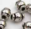Barrel Beads silver