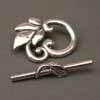 Roman Leaf Toggles - Silver