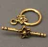 Star Flower Toggles - Gold