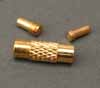 Screw Clasps for Cables - Patterned Gold