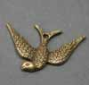Vintage Swallow Charms