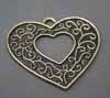 Vintage Large Heart Pendants