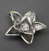 3D 5 Petal Flower Pendants