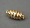 Magnetic Clasp - Ribbed Gold