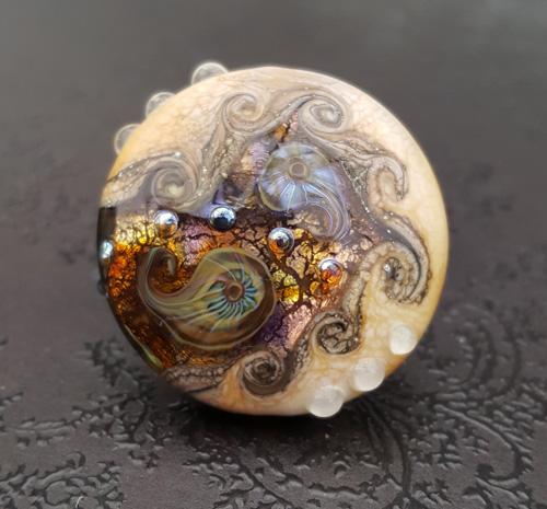 Golden Treasure Cove Focal Bead
