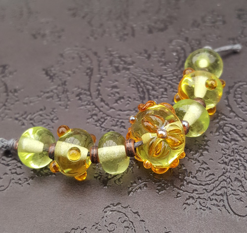 Lemon Floral Bead Set