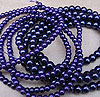 Glass Pearls - 4mm Deep Purple