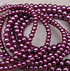 Glass Pearls - 6mm Mulberry