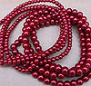 Glass Pearls - 4mm Red