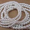 Glass Pearls - 6mm White