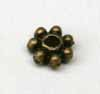 4mm Daisy Spacers - Thick Ant.Copper
