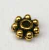 4mm Daisy Spacers - Thick Gold