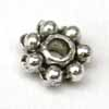 4mm Daisy Spacers - Thick Silver