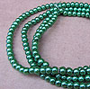Glass Pearls - 4mm Green