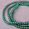 Glass Pearls - 4mm Green