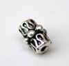 Doodle Tube Beads - Silver