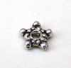 Bali Style Flat Star Spacer - Silver