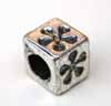 Large Hole Cube Beads - Flower