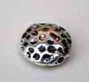 Large Hammered Effect Lentil Beads