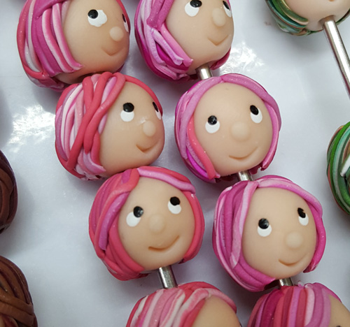 Pink Clay Heads