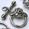 Rose Toggles Silver