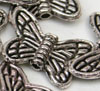 Butterfly Beads  Silver Large