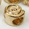 *BOGOF* Large Hole Spiral Bead Gold - be40