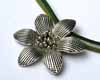 BIG Flower Pendant - Silver