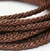 Braided Cord - 4.5mm Chocolate