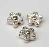 Bright Silver Flower Beads