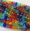 Crystal Rondelles - 6x4mm Rainbow
