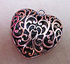Large Filigree Heart Pendant - Copper