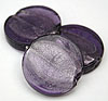 Glass Disc Bead - Purple