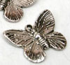 Large Butterfly Charm - Silver