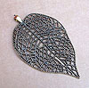 Mega Leaf Pendant - Bronze