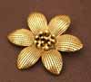 BIG Flower Pendant - Gold