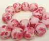 Polymer Clay Beads - 16mm Pink