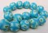 Polymer Clay Beads - 16mmTurquoise