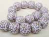Polymer Clay Beads- 16mm White/Lilac