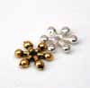 Small Snowflake Spacer - Gold