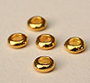 Small Donut Spacers - Gold