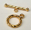 Small Twist Toggle - Bright Gold