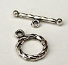 Small Twist Toggles - Silver