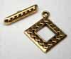 Square Toggles - Gold