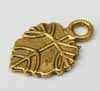 Veined Leaf Charms - Gold